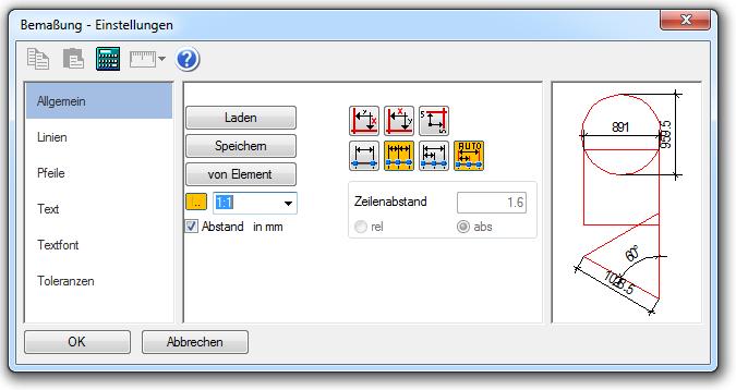 CAD_Dialog_Bemassung
