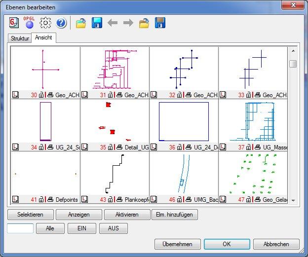 Haustech-CAD Anzahl der Ansichten