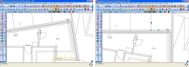 Haustech-CAD drehen des Koordinatensystems
