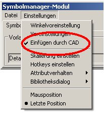 Symbolmanager einfügen durch CAD